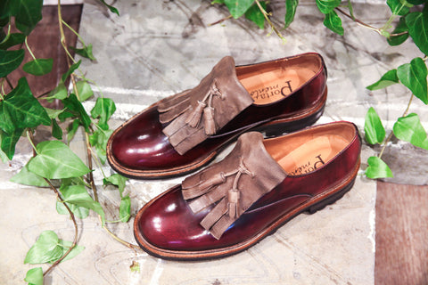 Isa Burgundy Loafers