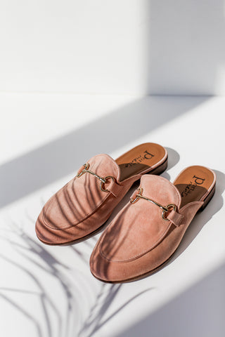 Lenny Pink Mules