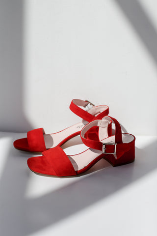 Lina Red Sandals