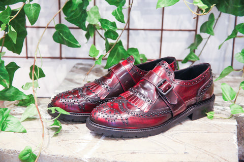 Elisa Red Burgundy Brogues
