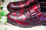 ELISA - Made in Italy Burgundy Leather Brogues Shoes from Portamento