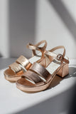 Nat Platform Sandals Rose Gold