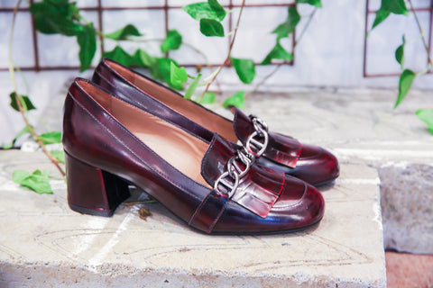 Paola Red Loafers