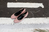 Portamento Grace pink suede shoes