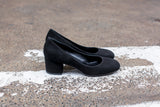 Grace Black Suede Pumps