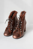 Leon Copper Ankle Boots