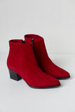 Alex Red Suede Boots