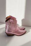 Clint Metallic Pink Boots