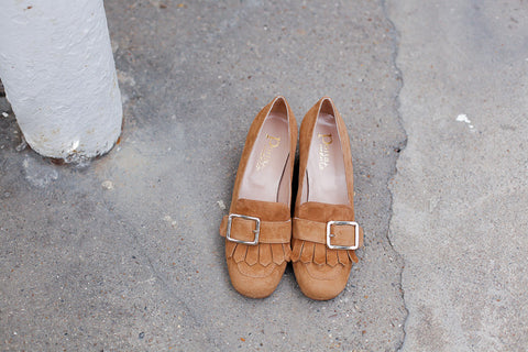 Paola Suede Brown Loafers