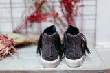 Made in Italy Leather glitter fringes sneakers by Ovyè