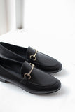Lea Black Loafers