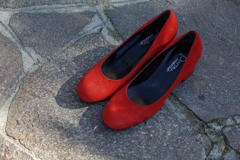 Grace Red Suede Pumps