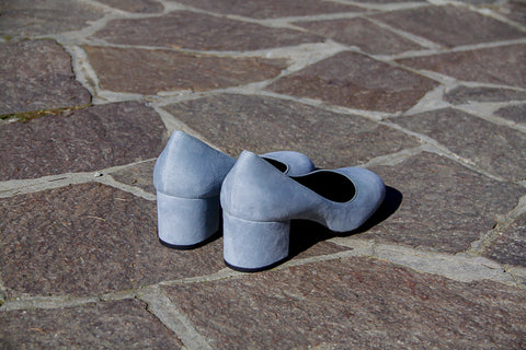Grace Sky Blue Suede Pumps