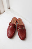 Lenny Cross Red Mules