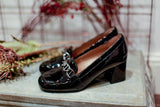 Paola Black Patent Loafers