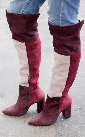 Naomi Over The Knee Suede Boots