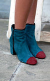 Odette Green/Burgundy Ankle Boots
