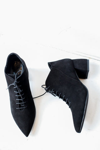 Siona Lace Up Black