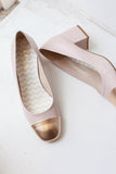 Doris Pink/Gold Pumps