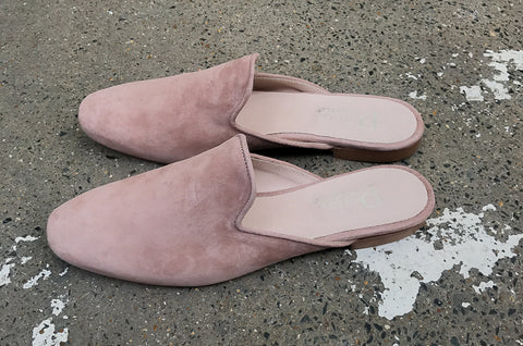 Sian Mauve Suede Slippers