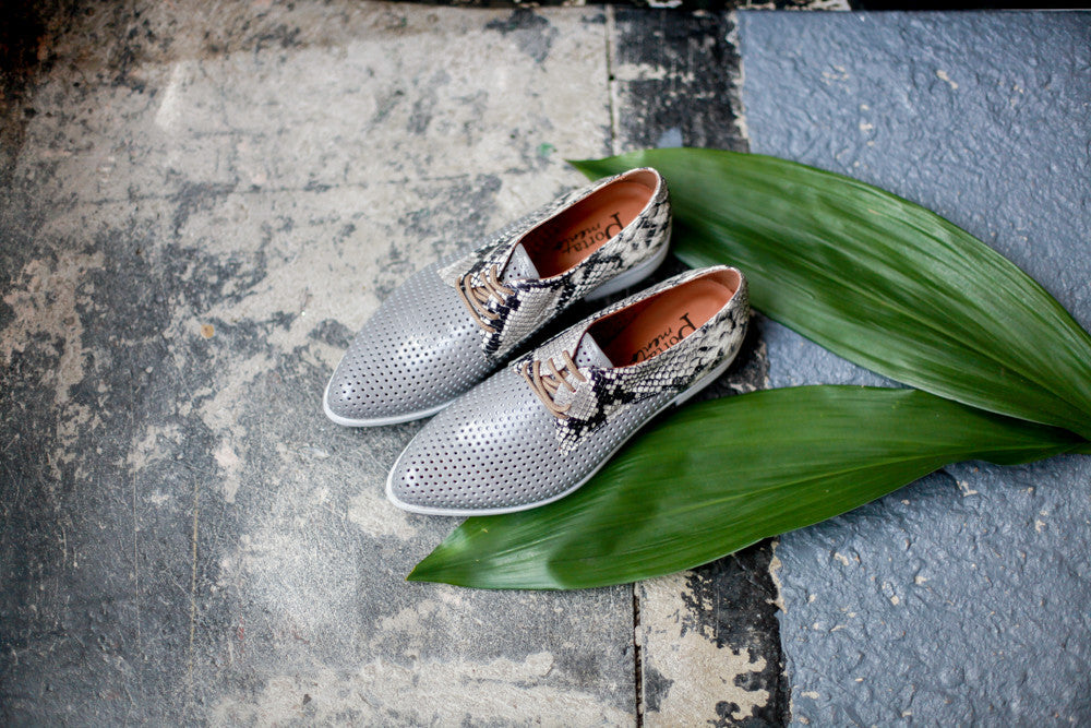 Sienna Grey/Snake Shoes