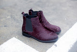 Lily Pony Burgundy Chelsea Boots