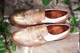 Primo Amore White/Gold Brogues