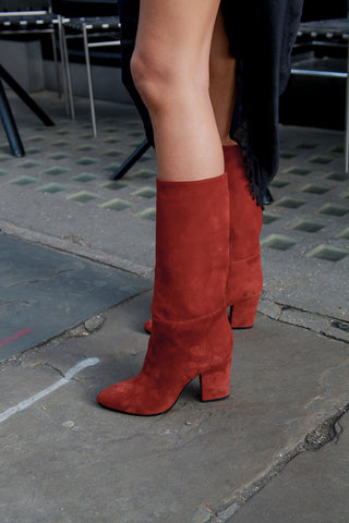 Festa Red Suede Boots