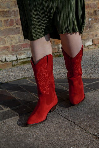 Donna Red Cowboy Boots