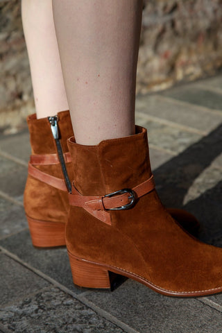 India Brown Suede Boots