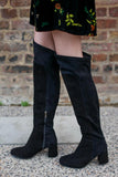 Tory Over The Knee Black Boots