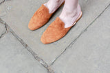 Sian Brown Suede Slippers