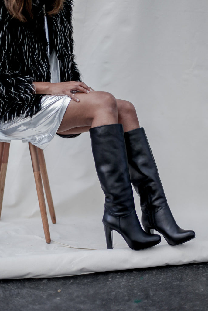 Tunit Black Long Boots