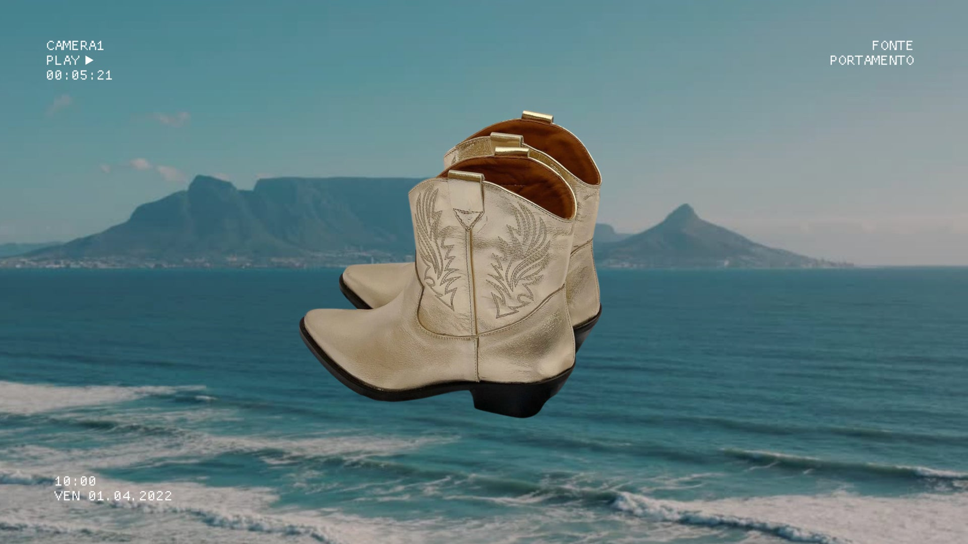 Portamento white leather platform sandals. Made in Italy. 100% leather.