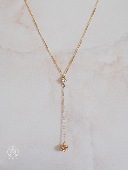 Crystal Ball Lariat Necklace