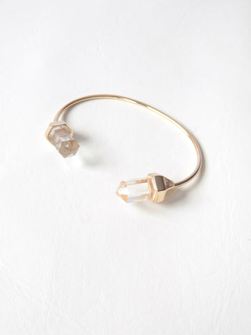 Crystal Chakra Gold Bangle
