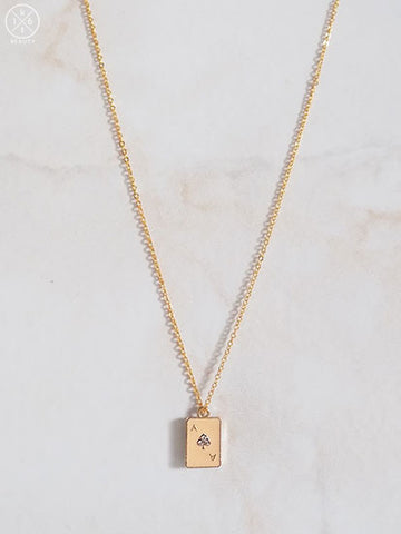 16kt Beauty Ace of Spades Necklace