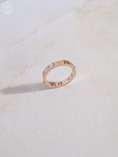 16kt Beauty Roman Numeral Ring