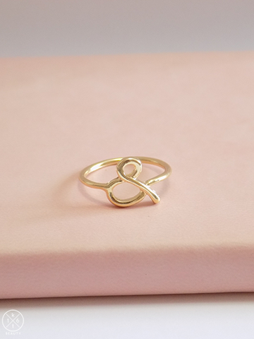 ampersand gold ring