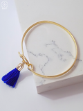 Blue Tassel Bangle