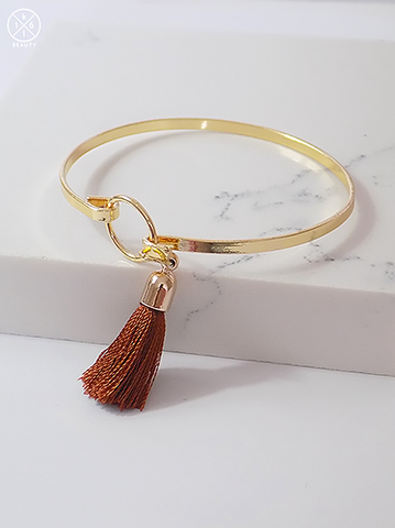 Caramel Tassel Bangle
