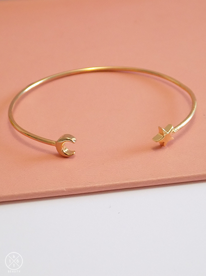 Celestial Bangle- Moon and Star