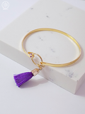 Purple Tassel Bangle