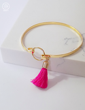 Chocolate Tassel Bangle