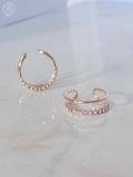 Rose Gold Crystal Tier Ring
