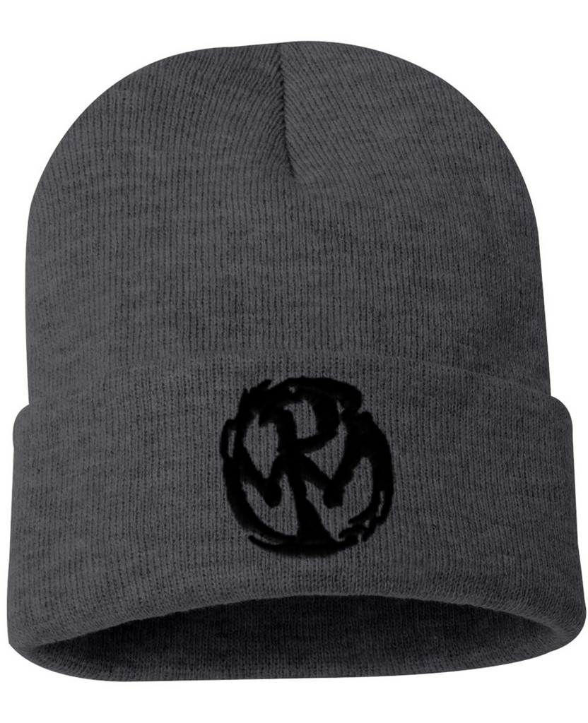 PW Circle Logo Beanie - Grey/Black