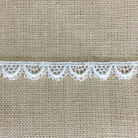 Ivory Venise Scalloped Lace Doll Trim