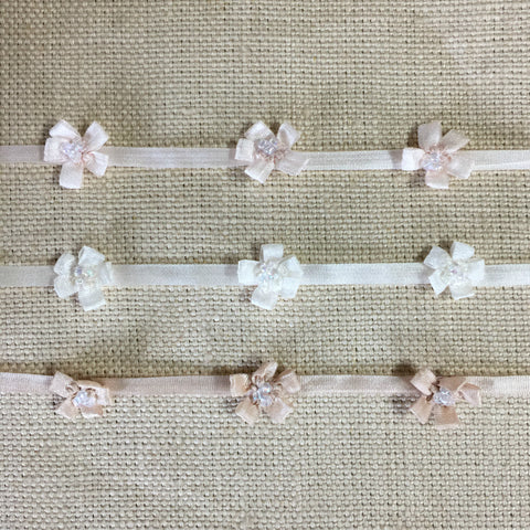 Silk Ribbon Beaded Flower Doll Trim