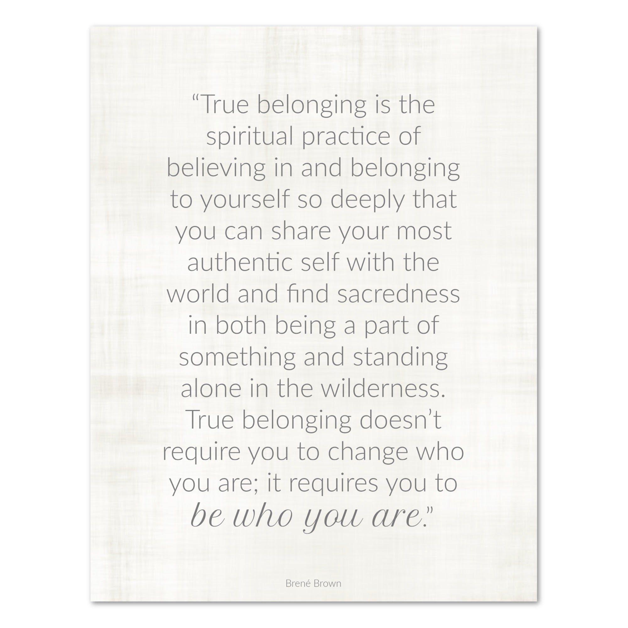 True Belonging Quote