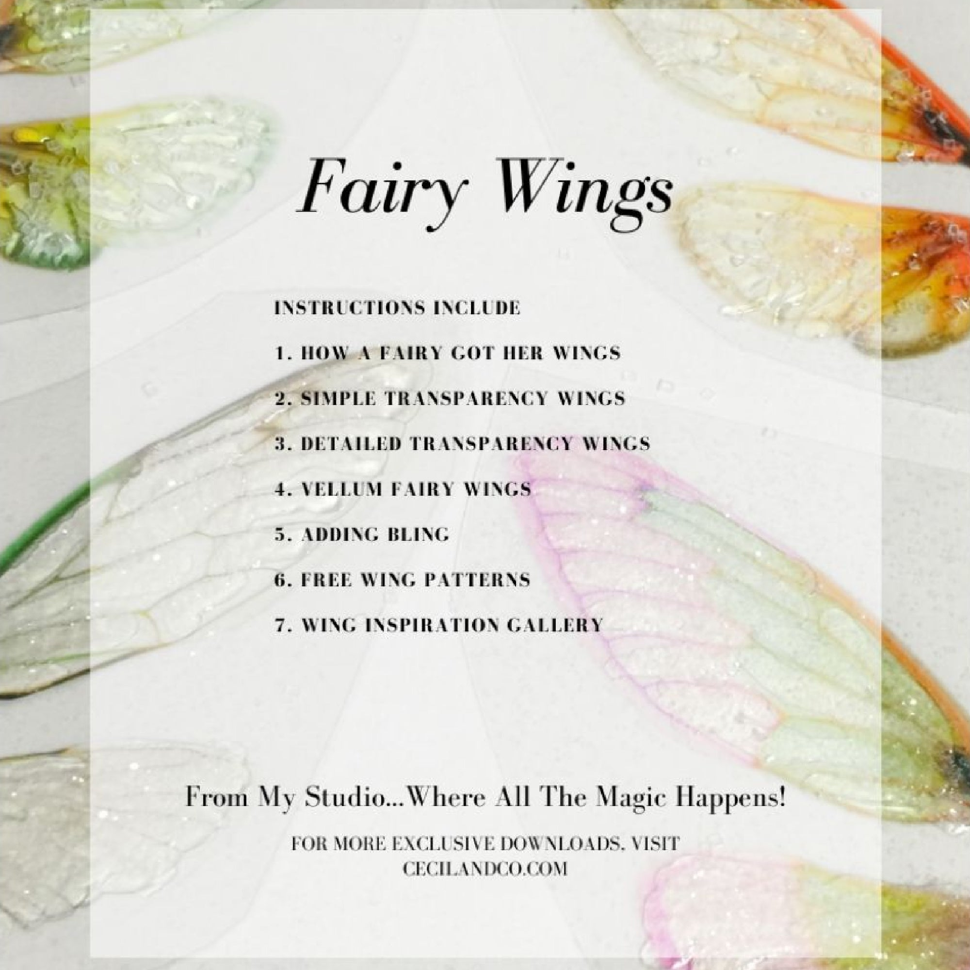Fairy Wings PDF Tutorial